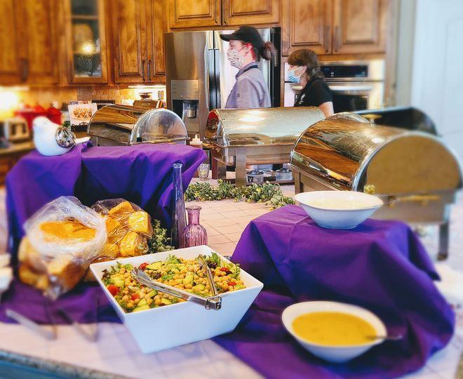 Elegant cuisine displays