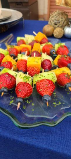 Local fruit skewers