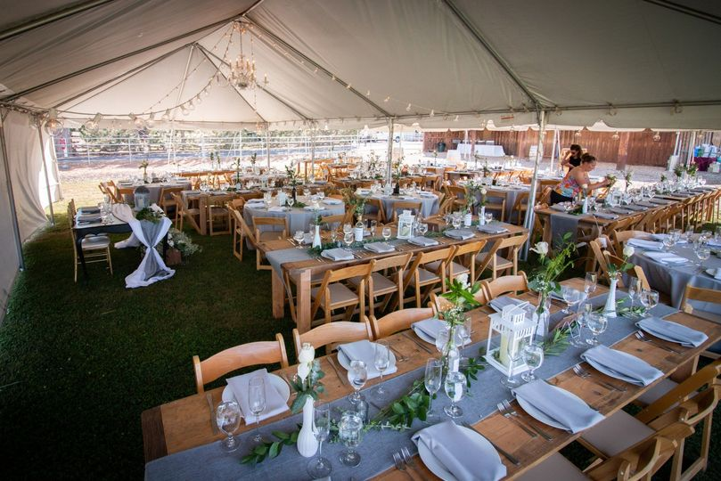 Table and Tenting options