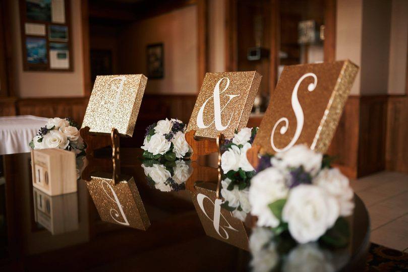the wedding initials