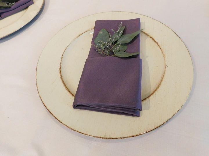 Violet table napkin