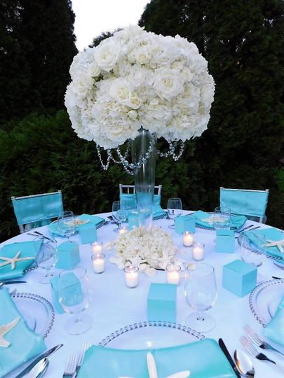 Beach side bliss table package