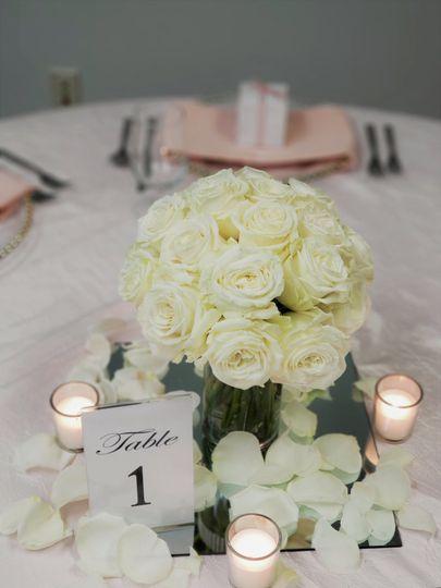 Ivory rose center pieces
