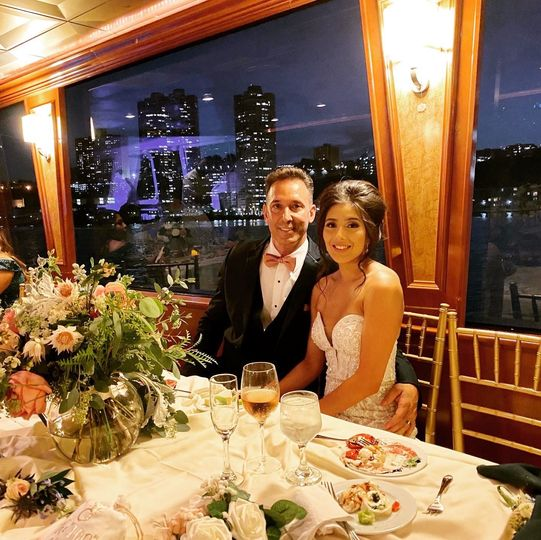 wedding couple on dining deck sweetheart table 51 126832 160062716895789