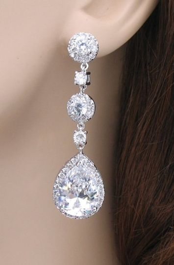 These beautiful bridal earrings are a best seller!  Find them at  greatdaybridal.com