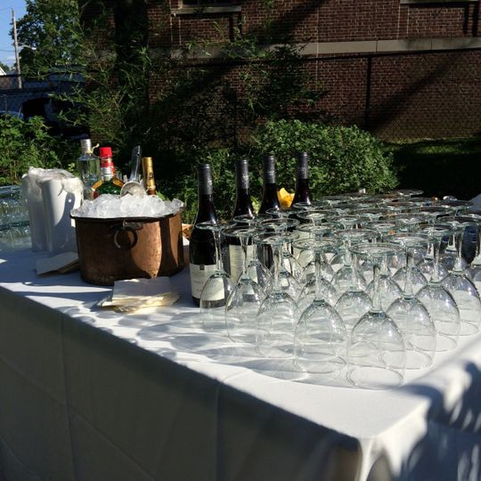 Wine glasses and Wine bottle