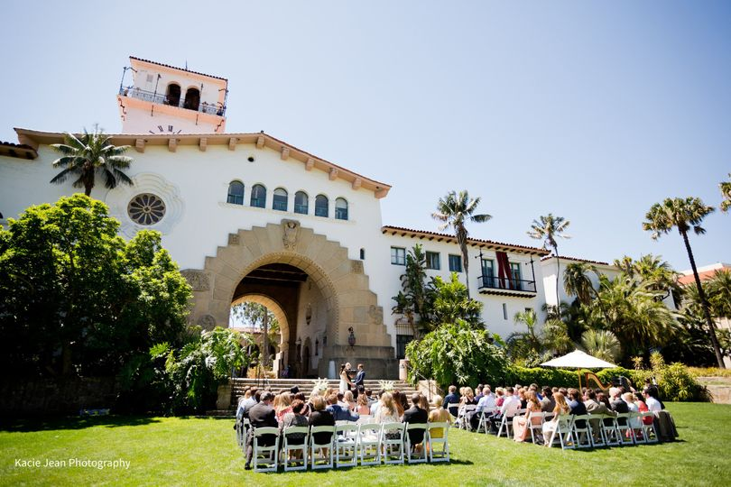 Wedding Ceremony at the Santa Barbara Courthouse,Valerie Saint Martin, Harpist & Opera Singer