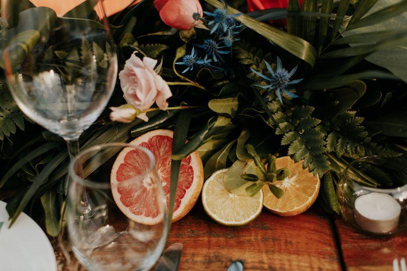Fruity centerpieces