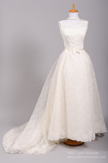 1960's Audrey Hepburn Lace Vintage Wedding Gown   Designed in the 60's this sweet Audrey Hepburn...