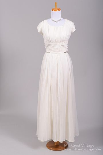4b12d76317e 1960 s Chiffon Rhinestone Vintage Wedding Gown Designed in the 60 s