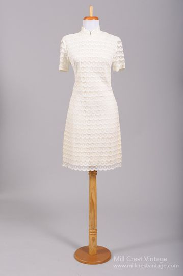 1960's Lace Scooter Vintage Wedding Dress   Designed in the 60's, this adorable scooter style...