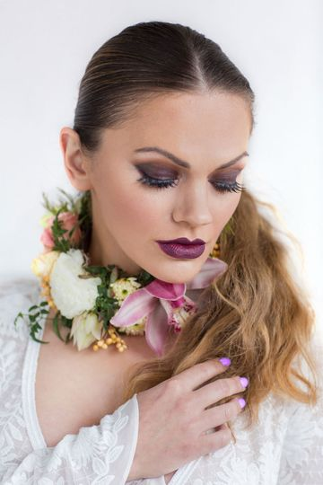 Bold bridal makeup