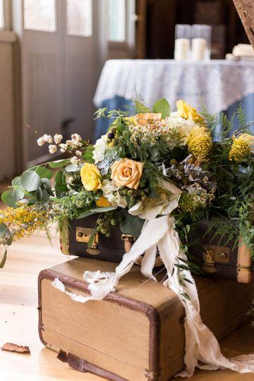 Golden yellow bridal bouquet