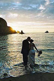 Mendocino wedding sunset