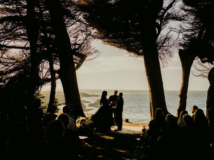 A ceremony between the trees