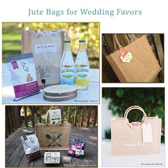 wedding jute bags