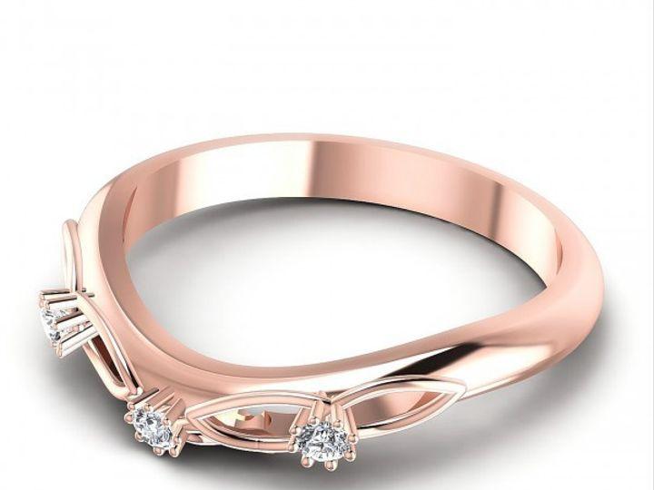 Tmx 1504152866298 Views Final003whitematterosegolddiamond12 West New York wedding jewelry