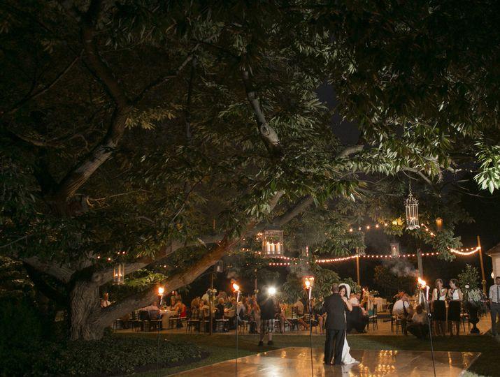 The Cypress House backyard