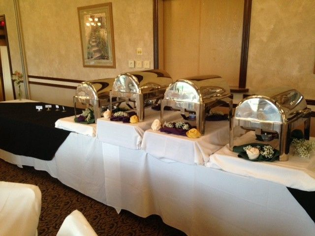 Elegantly decorated buffet