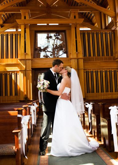 Kissing in the ceremony space