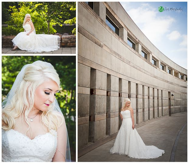 crystal bridges bridal session