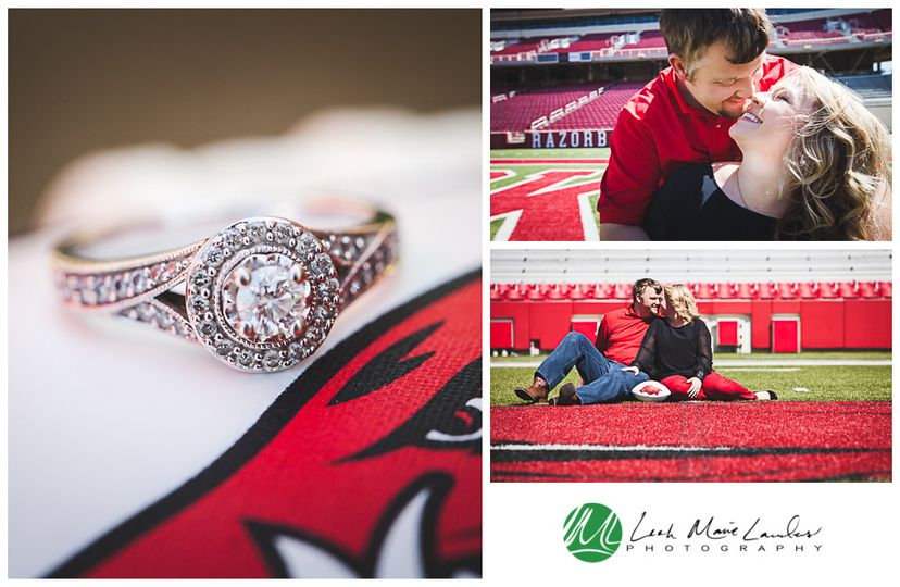 david rachel razorback engagement 3