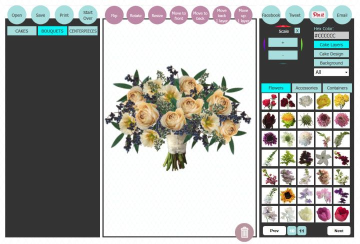 Subtle crescent bouquet