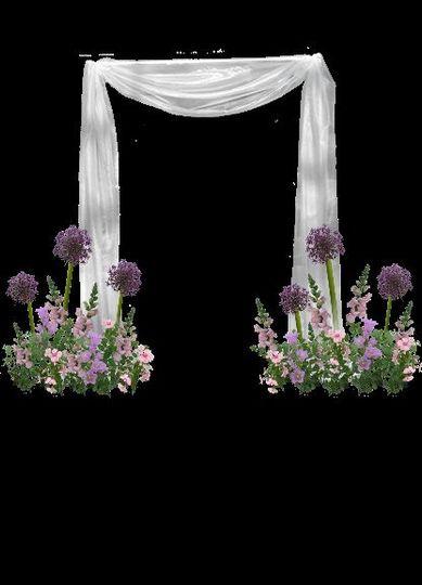 Spring fabric arch