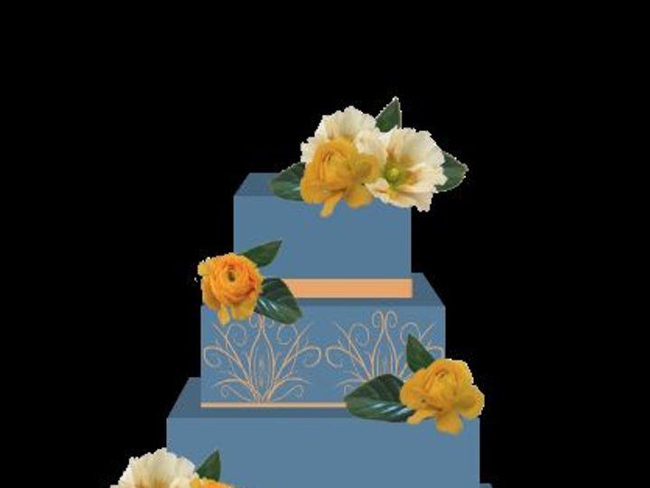Tmx 1517946842 3d18a124e552fb9d 1517946841 A481a1e6667ca1a9 1517946839903 1 Db Cake Blue  wedding florist