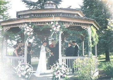 Nicely decorated gazebo