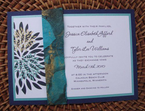 Tmx 1285711611062 Bluewrapedit Minneapolis wedding invitation