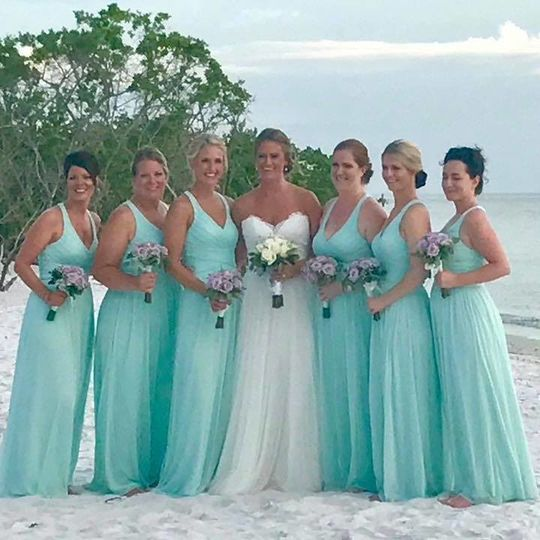 Sea blue wedding dresses