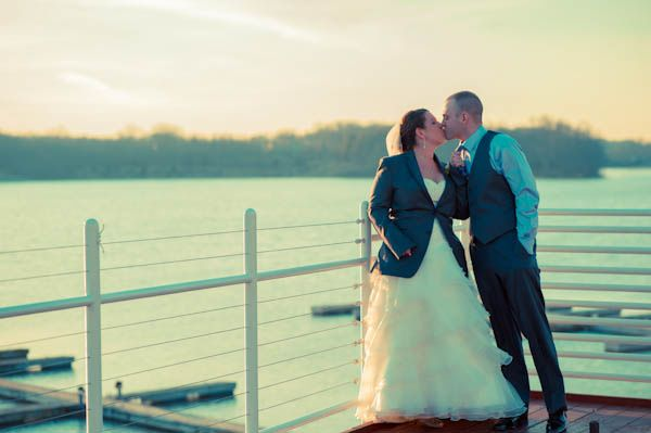 Dockside wedding photos