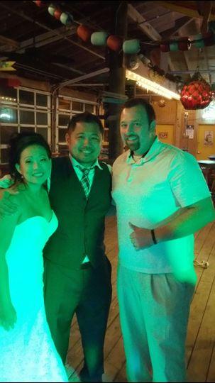Dj Jordan with the couple