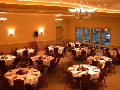 Our elegant ballroom is all ready for your event.