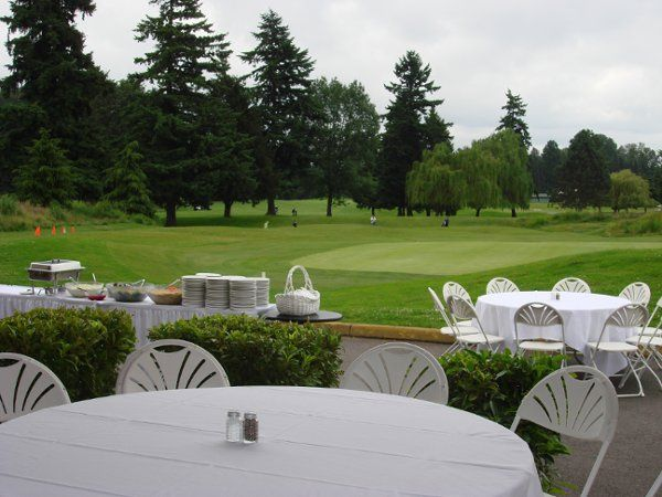 A beautiful view from our outdoor pavilion is the perfect backdrop to a northwest day.. and pavilion...