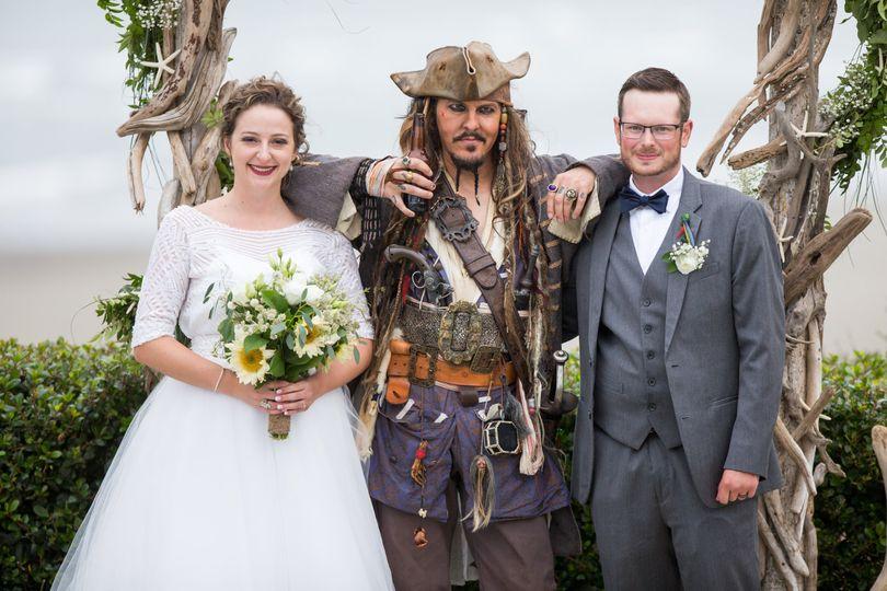 Pirate Wedding at the beach