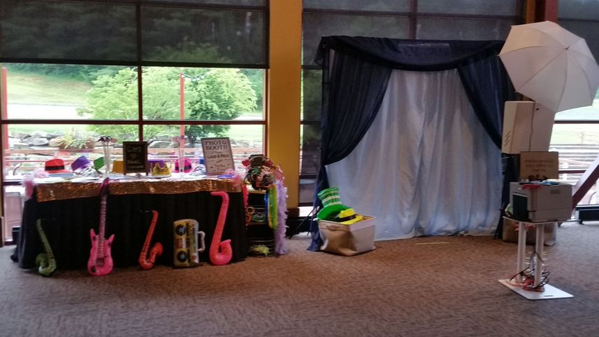 Photo booth and props table