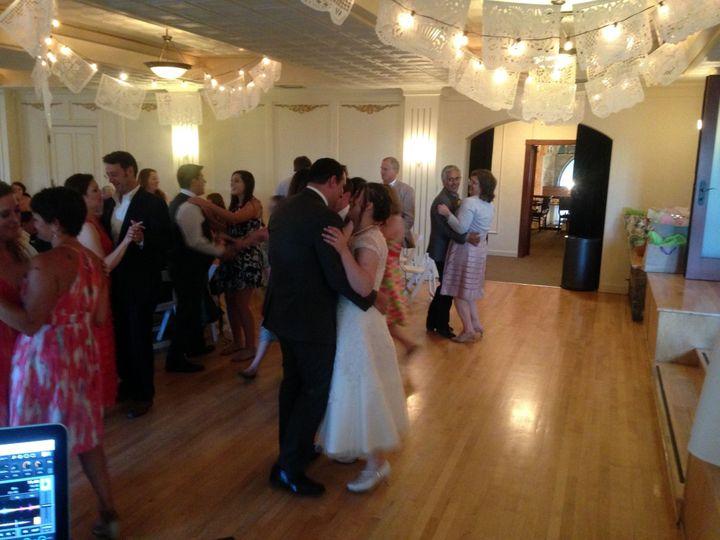 Couples slow dancing