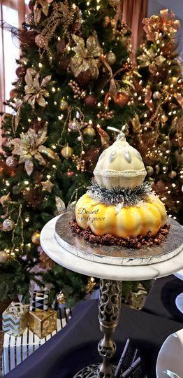 Christmas Cake with choc