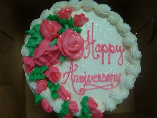 Local delivery and set up is FREE, along with your FREE first year anniversary cake coupon.