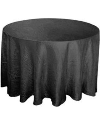 black 117 crinkle taffeta round tablecloth