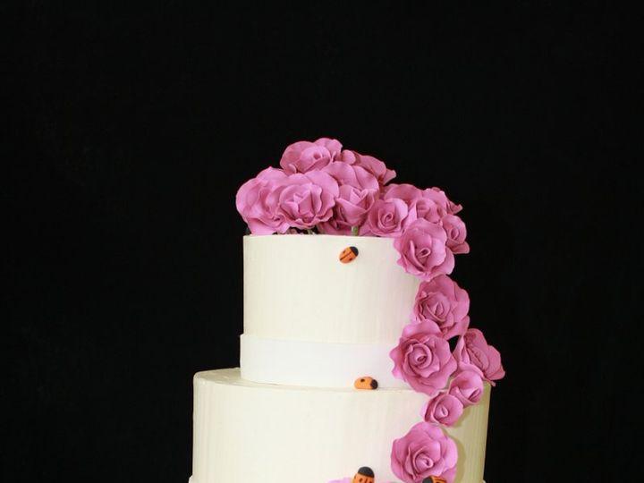 Tmx 1359493590363 Magentaroses2copy Westport wedding cake