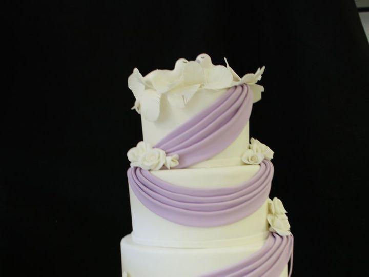 Tmx 1359494787831 Lavenderswags Westport wedding cake
