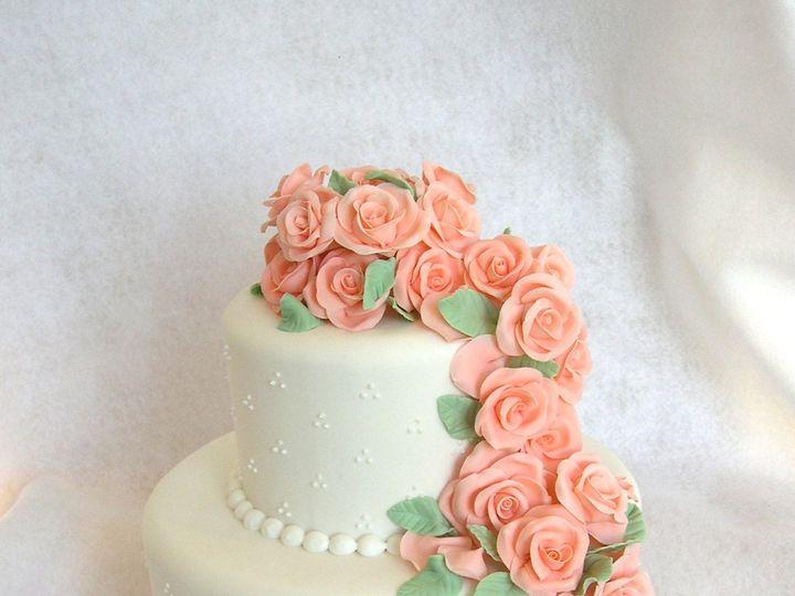 Tmx 1359495755259 Peachroseswiss Westport wedding cake