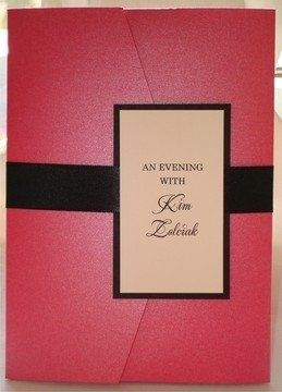 "Tuxedo style hot pink invite created for ""The Real Housewives of Atlanta"" Kim Zolciak's premiere..."