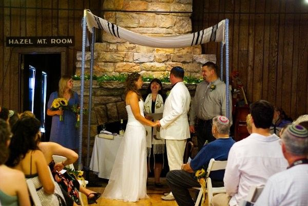 Sarah and William were wed at a mountain lodge in the Blue Ridge Mountains.