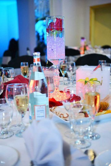 table setup at woodhaven manor wedding