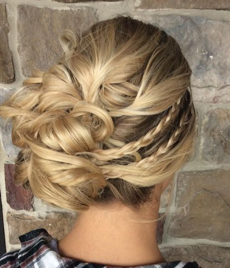 Updo twisted
