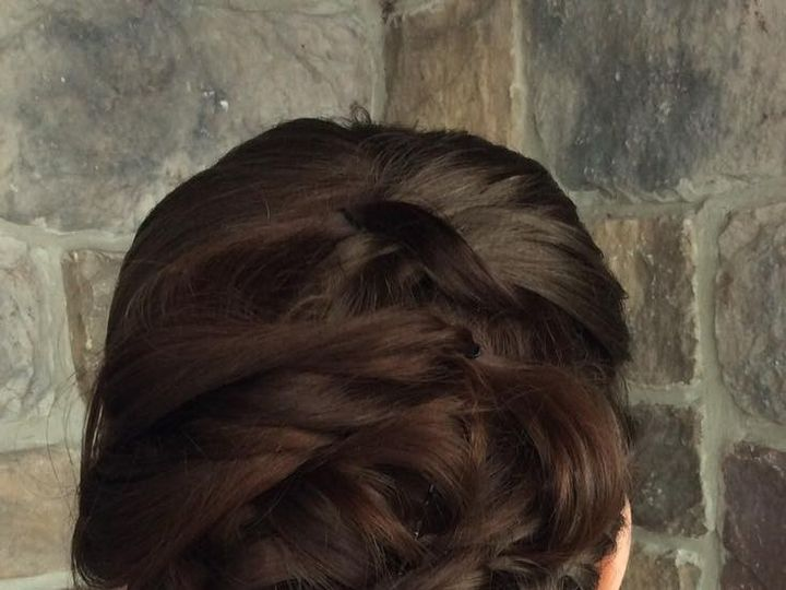 Tmx 1476762255607 Brunettebraidedupdo Elkton, MD wedding beauty